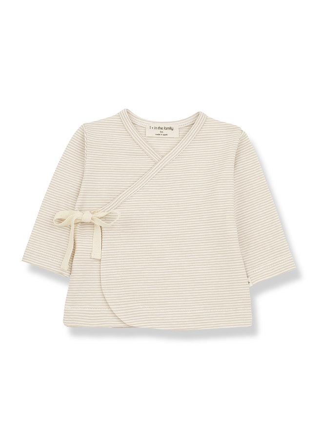 1+ in the family   sol newborn t-shirt   beige