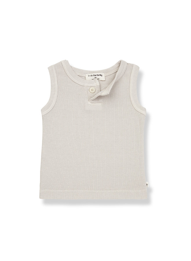 1+ in the family | genis tank top | stone
