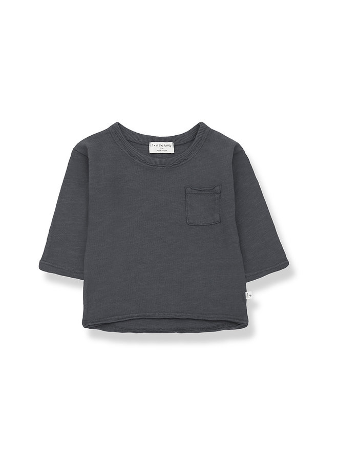 1+ in the family | pere long sleeve t-shirt | anthracite
