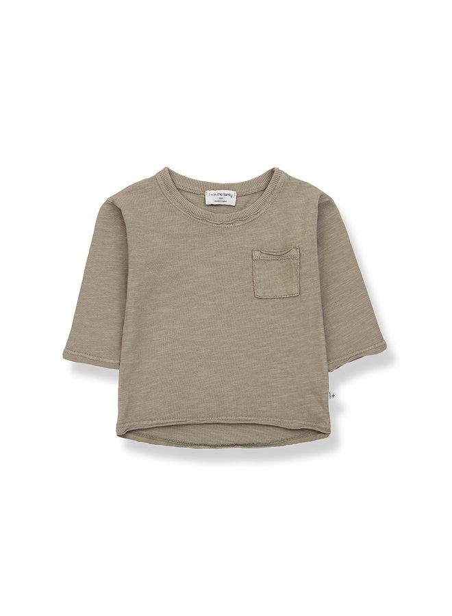 1+ in the family | pere long sleeve t-shirt | khaki