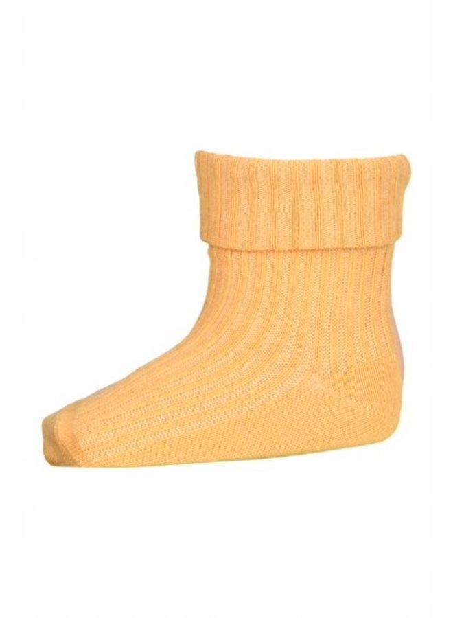 MP Denmark | cotton rib baby socks | ochre