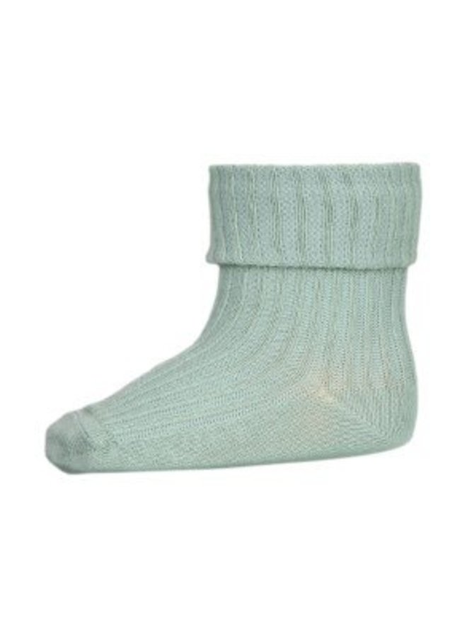 MP Denmark   cotton rib baby socks   granite green