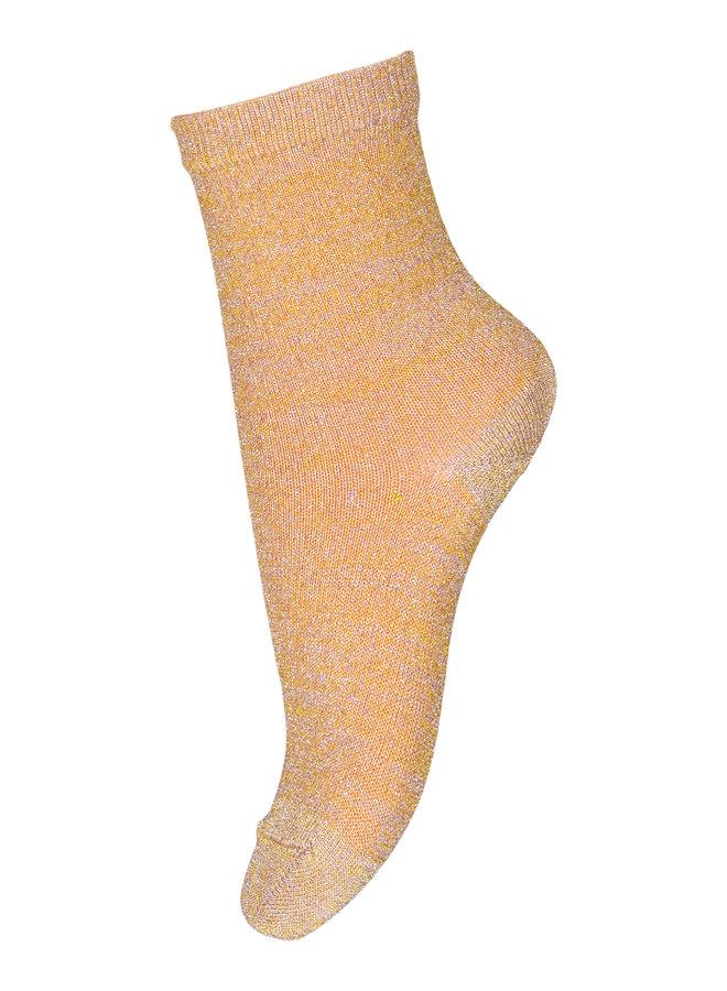 MP Denmark | pi multi glitter socks | ochre
