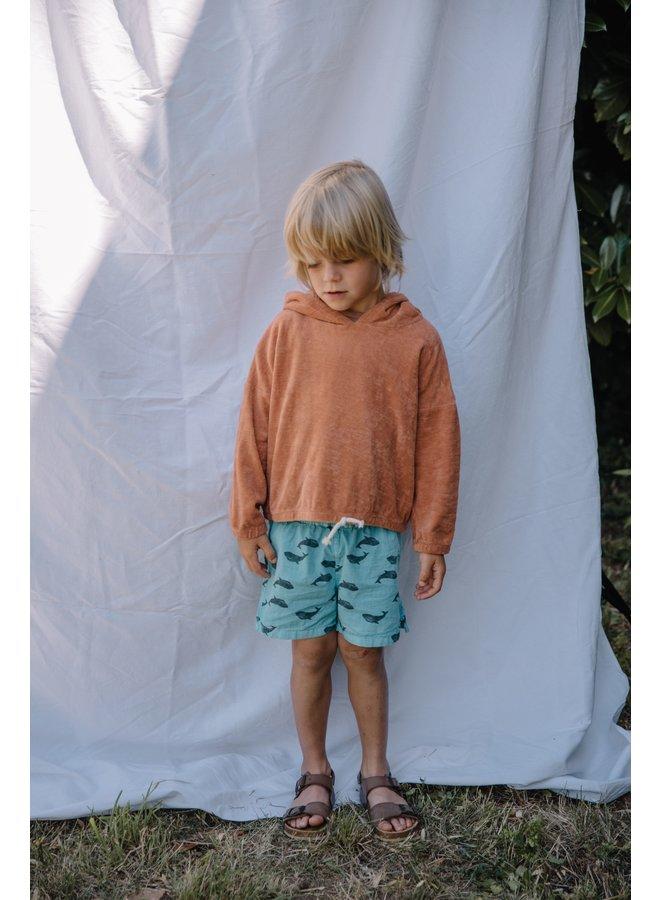 Buho | hansel whale swimsuit | mint