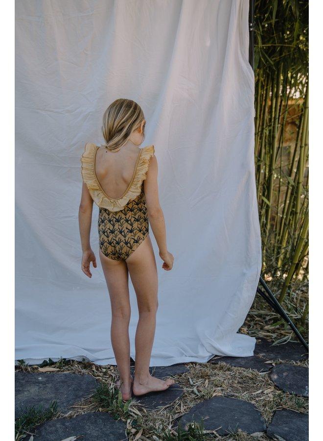 Buho   mafalda palm swimsuit   dark sun