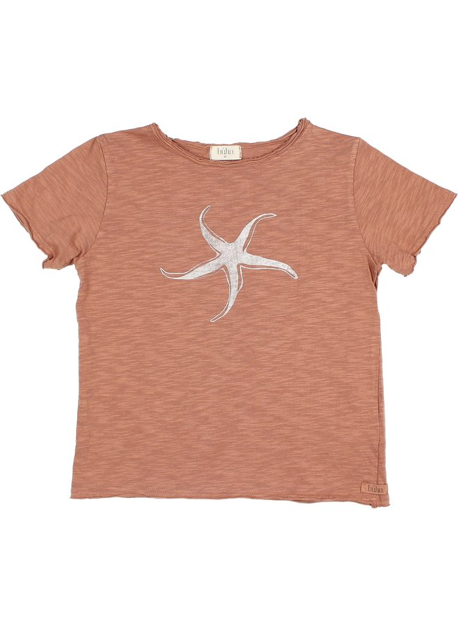 Buho | cesar starfish t-shirt | cocoa