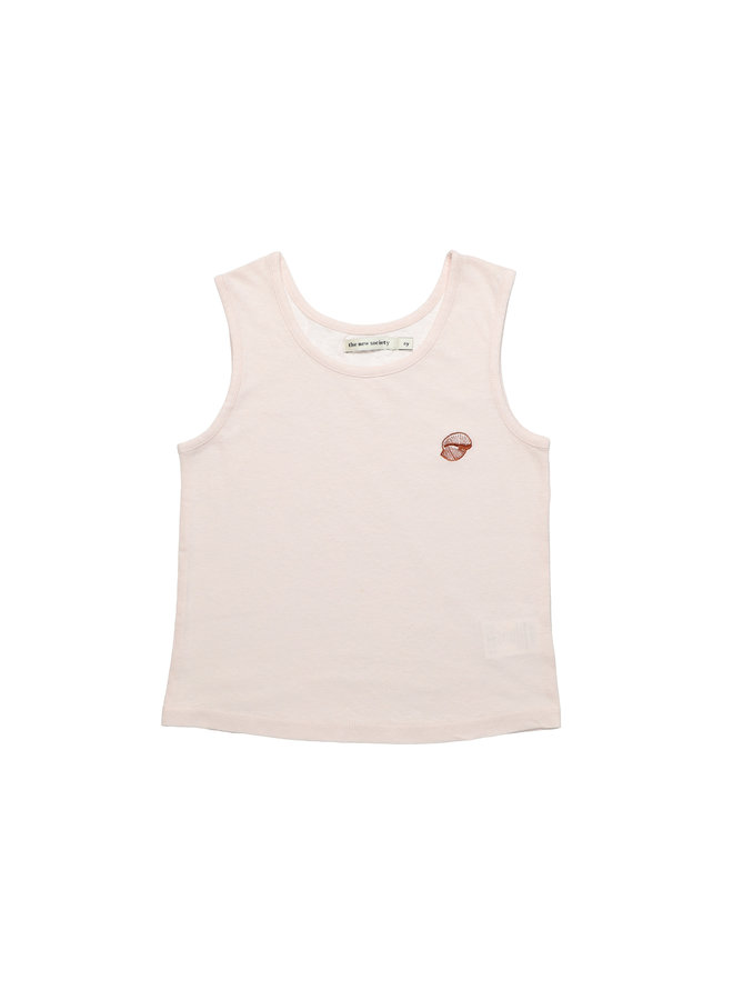 The New Society | ariel tee embroidery | blush