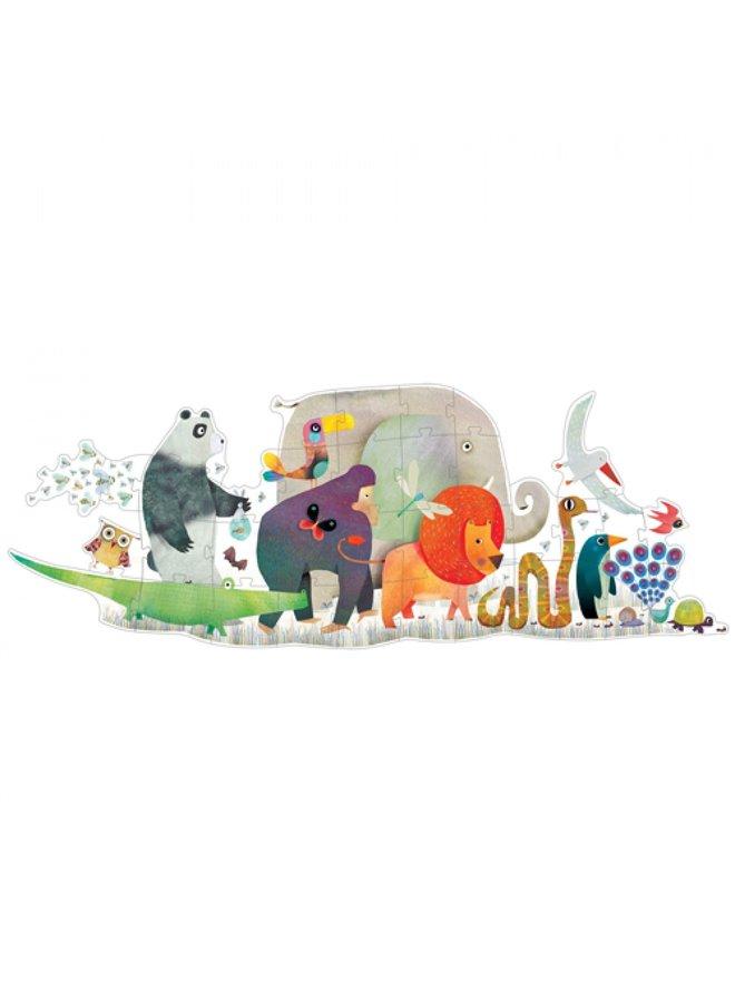 Djeco   vloerpuzzel   dierenparade