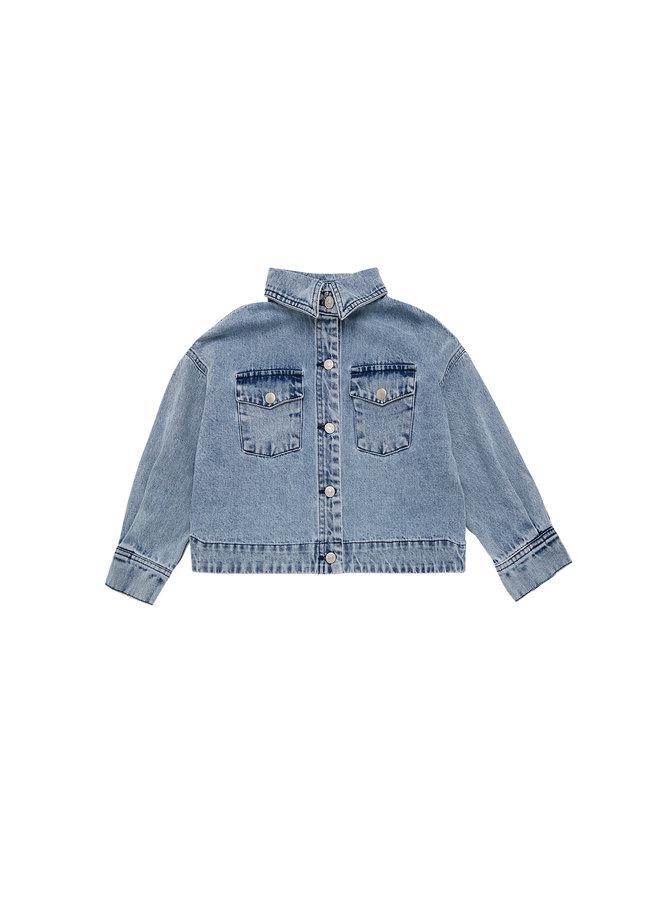 The New Society | lola jacket | denim light blue