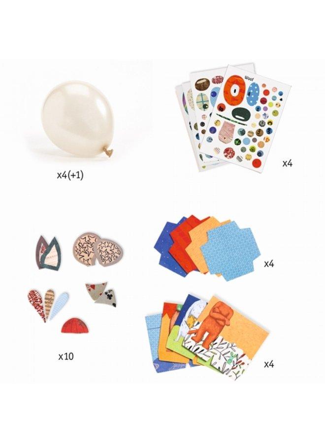 Djeco   knutselpakket   dierenballonnen