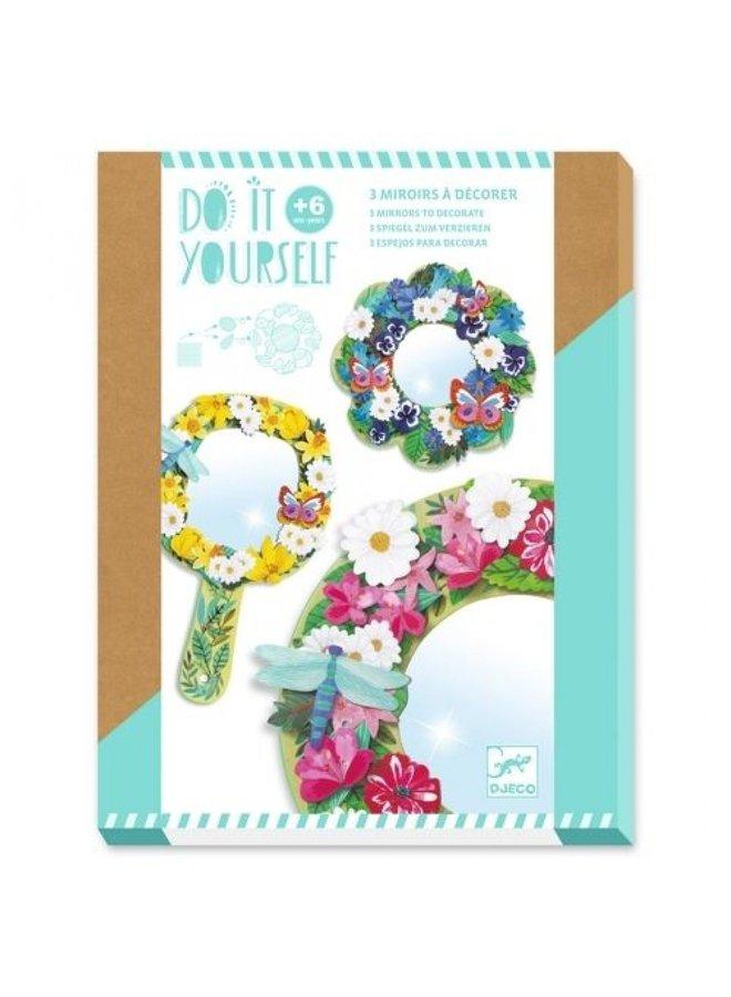 Djeco | knutselpakket | bloemenspiegel