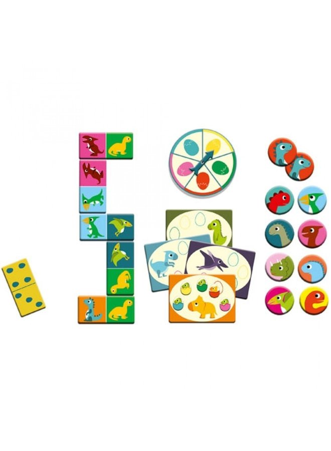 Djeco | bingo, memorie en domino | dino's