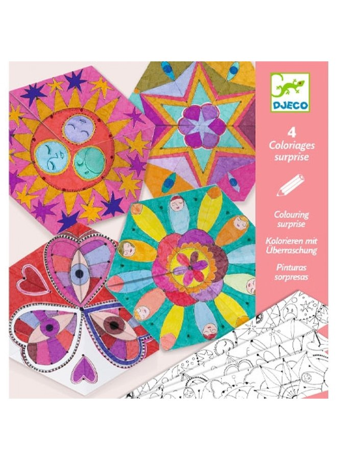 Djeco | kleurplaten mandala's | hemllichamen