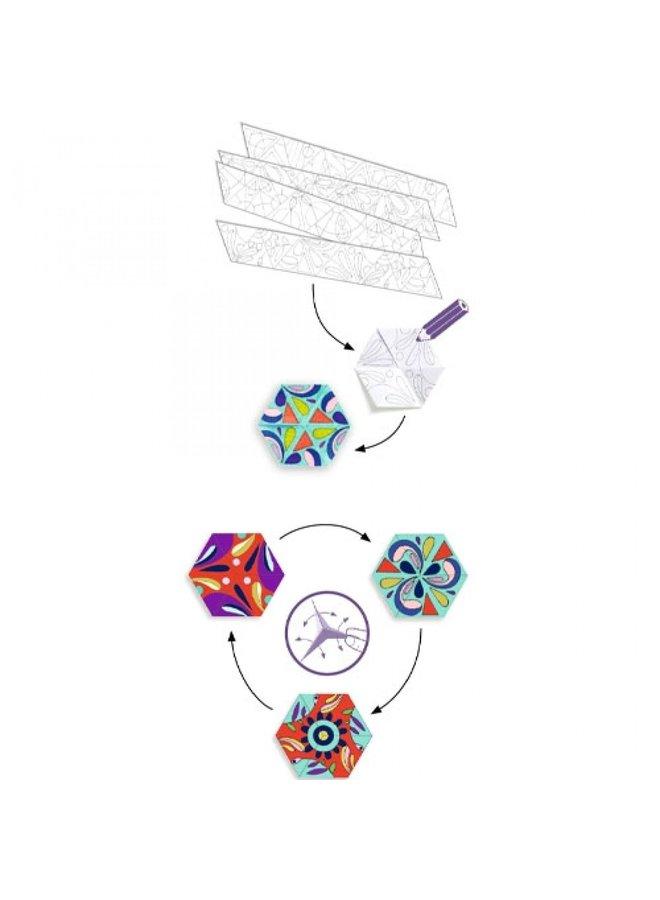 Djeco | kleurplaten mandala's | bloemen
