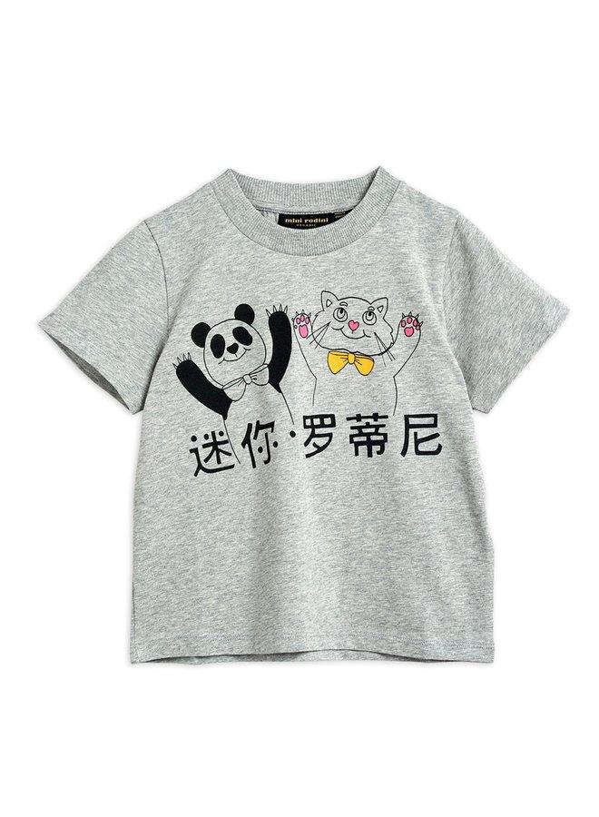 Mini Rodini   cat and panda sp ss tee