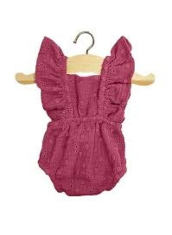 Minikane   dolls clothing   barboteuse retro lou framboise
