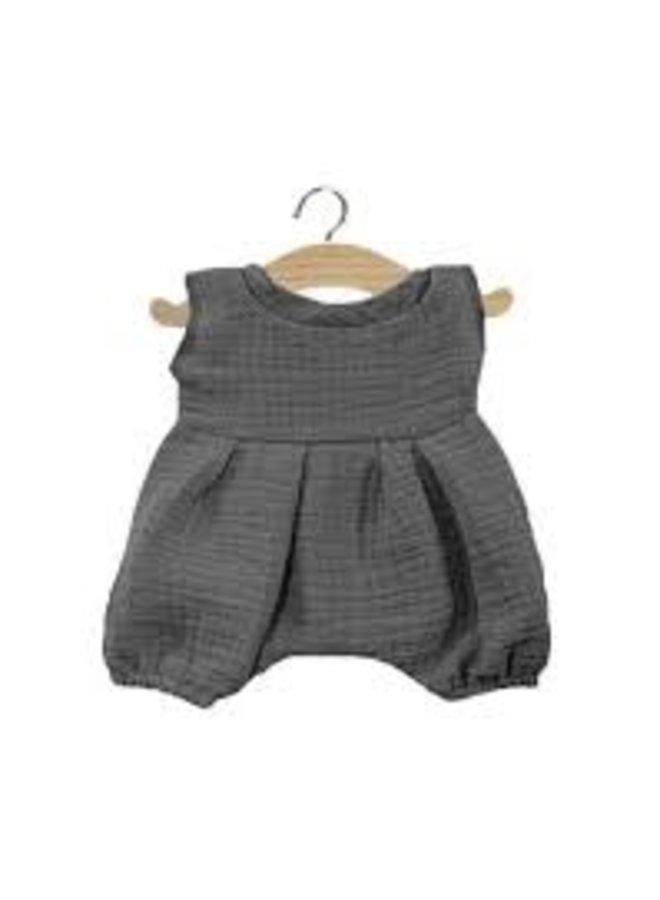 Minikane | dolls clothing | barboteuse noa gris antracite