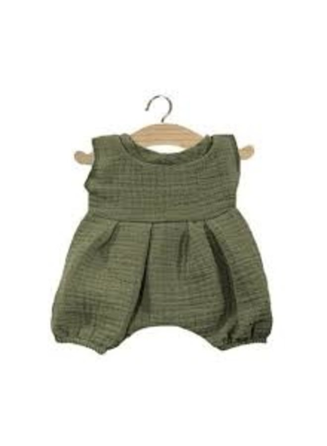 Minikane | dolls clothing | barboteuse noa vert olive