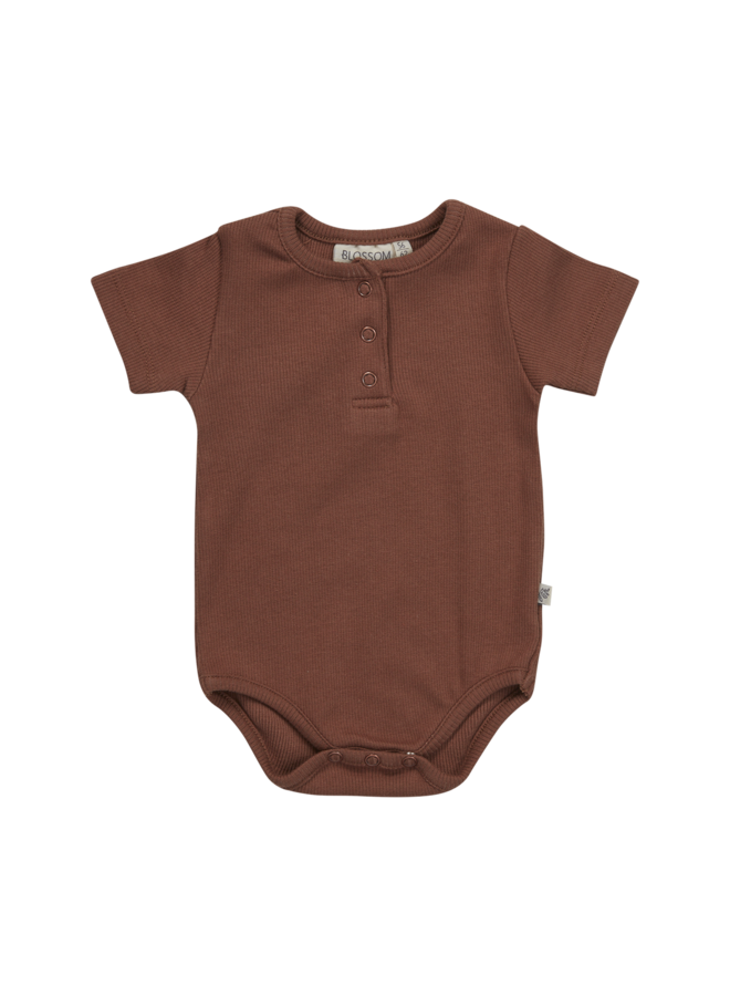 Blossom Kids | body long sleeve | hazelnut with buttons at front