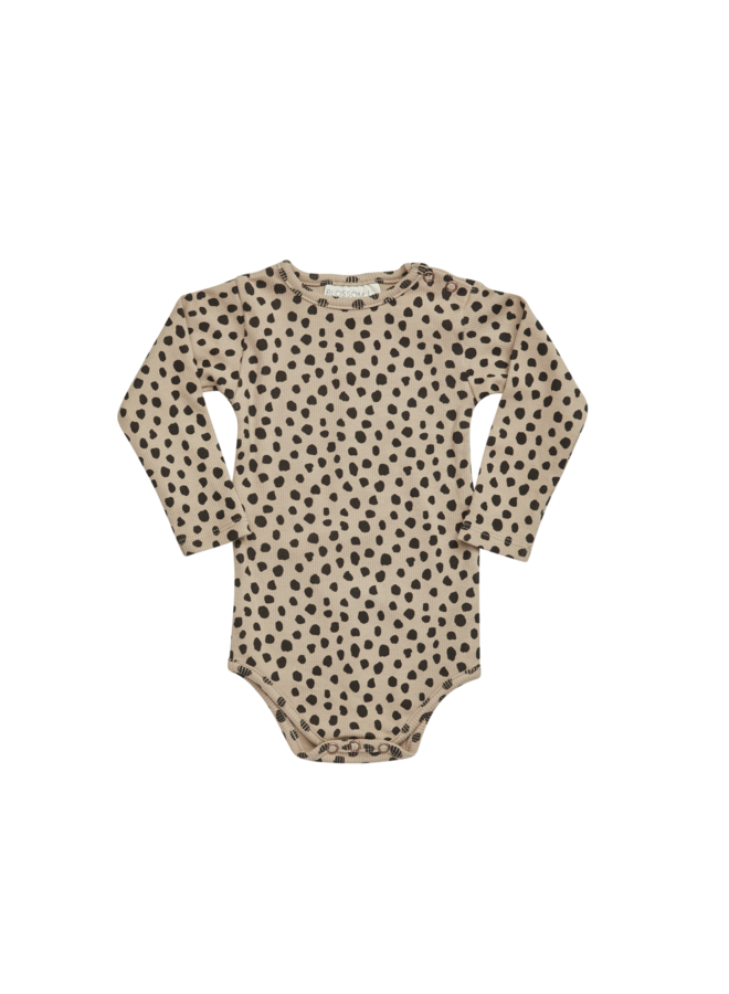 Blossom Kids | body long sleeve, rib | animal dot
