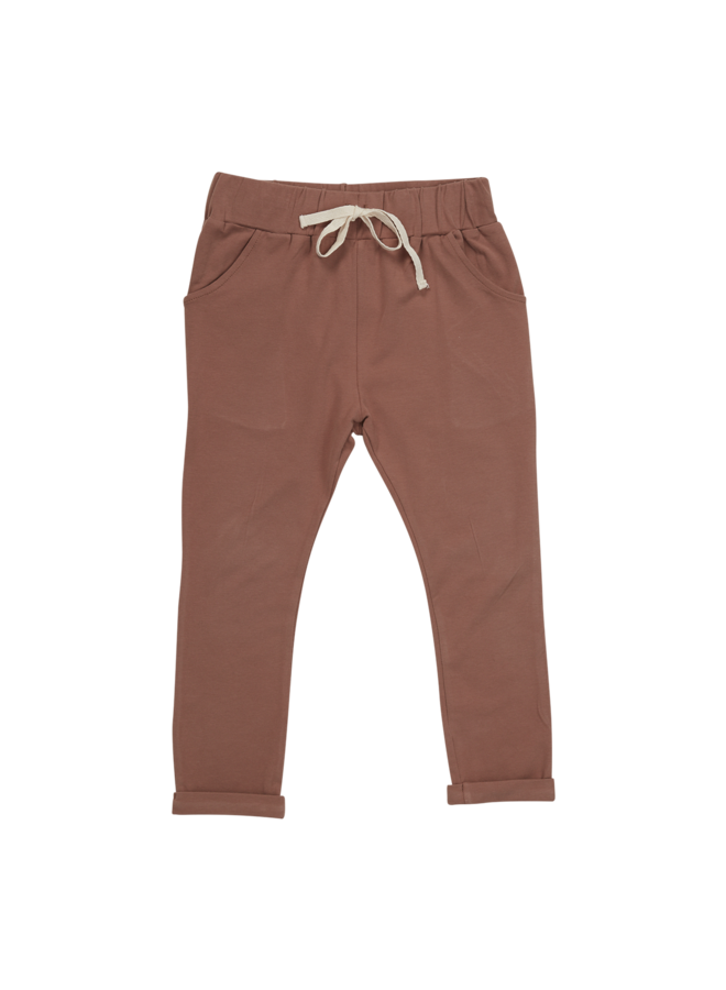 Blossom Kids | strap cord joggers | cacao
