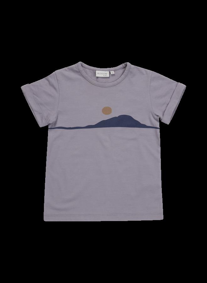 Blossom Kids | t-shirt sunset | lilac grey