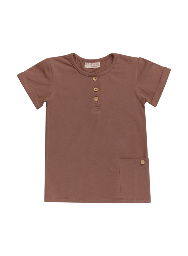 Blossom Kids | shirt short sleeve | cacao