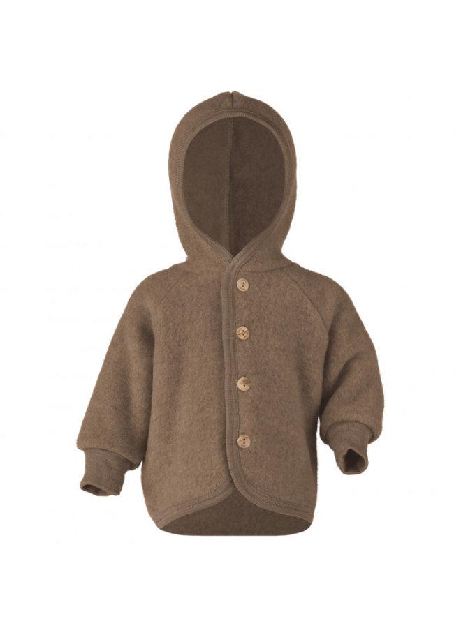 Engel | hooded jacket | walnut melange