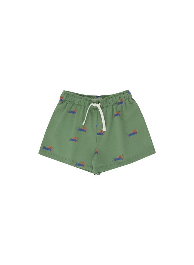 Tinycottons   doggy paddle short   green/iris blue