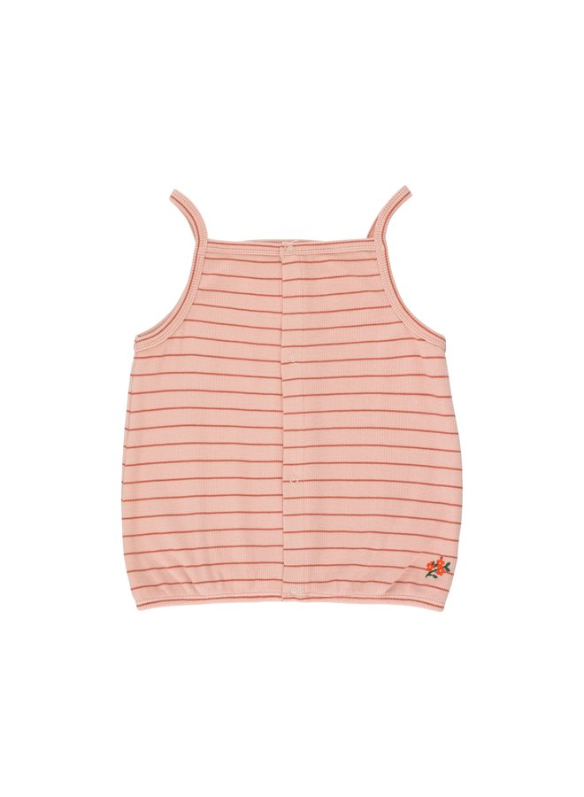 Tinycottons | flowers stripes top | dusty pink/maroon