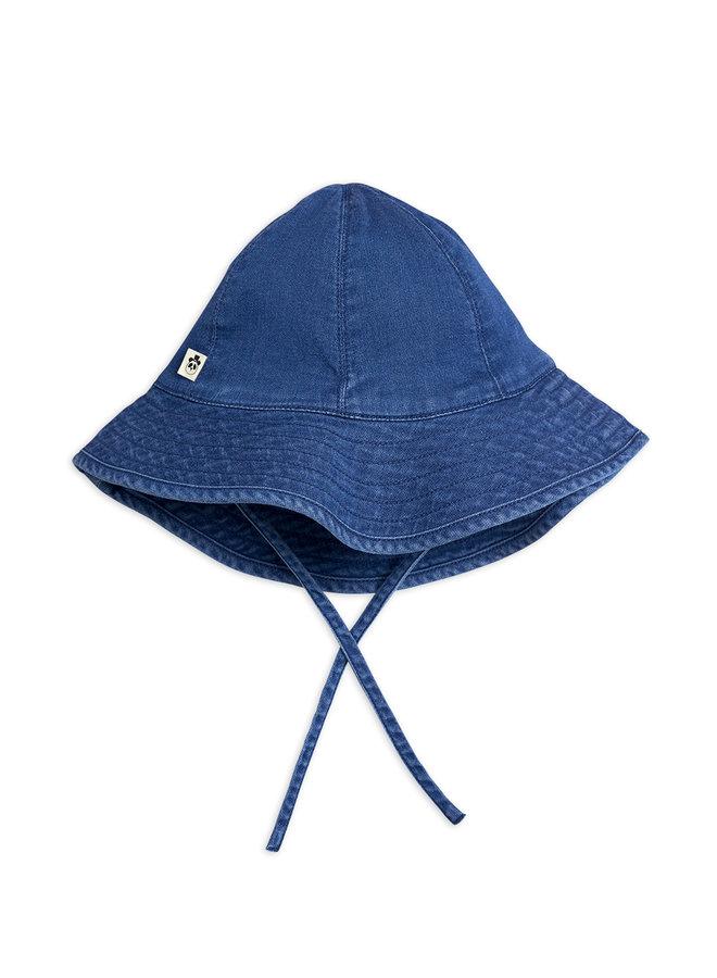 Mini Rodini | denim strawberry sun hat