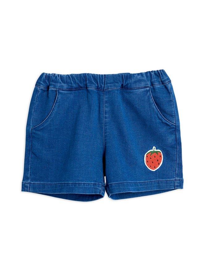 Mini Rodini | denim strawberry shorts