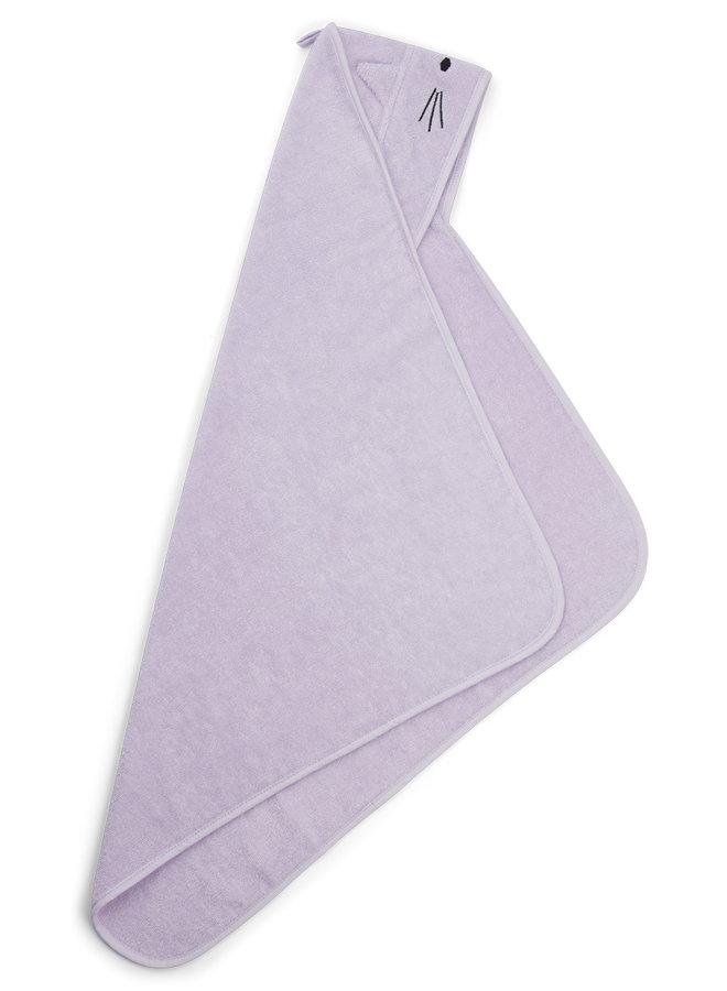 Liewood | albert hooded towel | cat light lavender