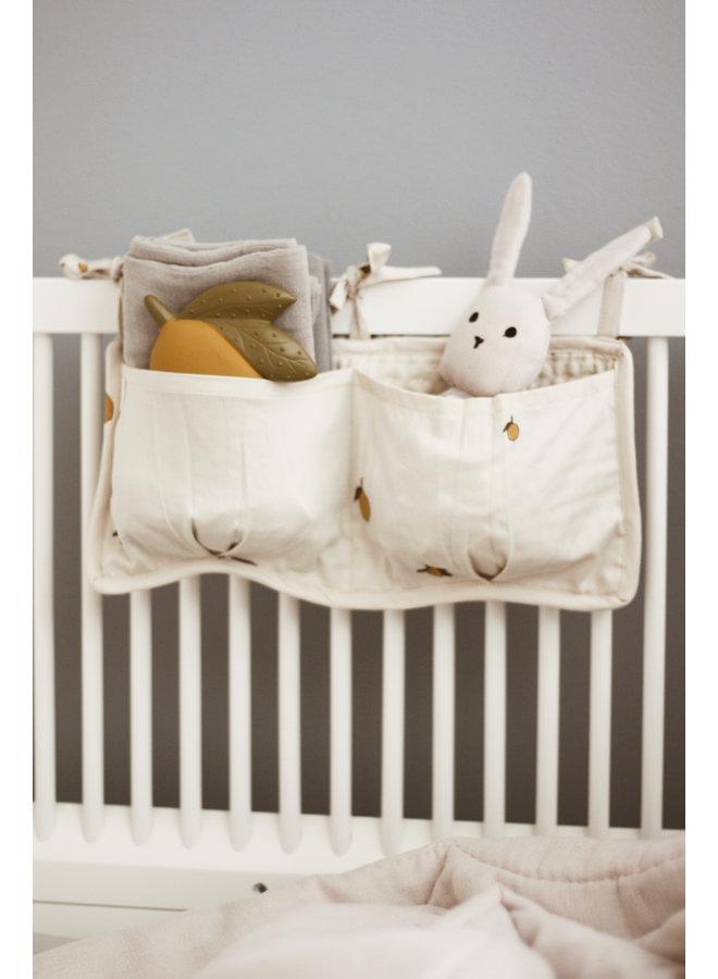 Konges Slojd | quilted bed pockets | lemon