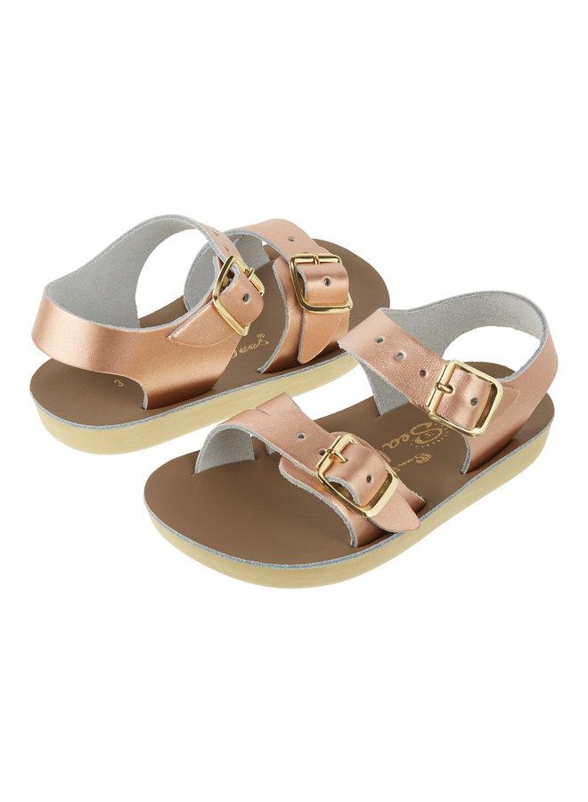 Salt Water Sandals | see wee | rose gold