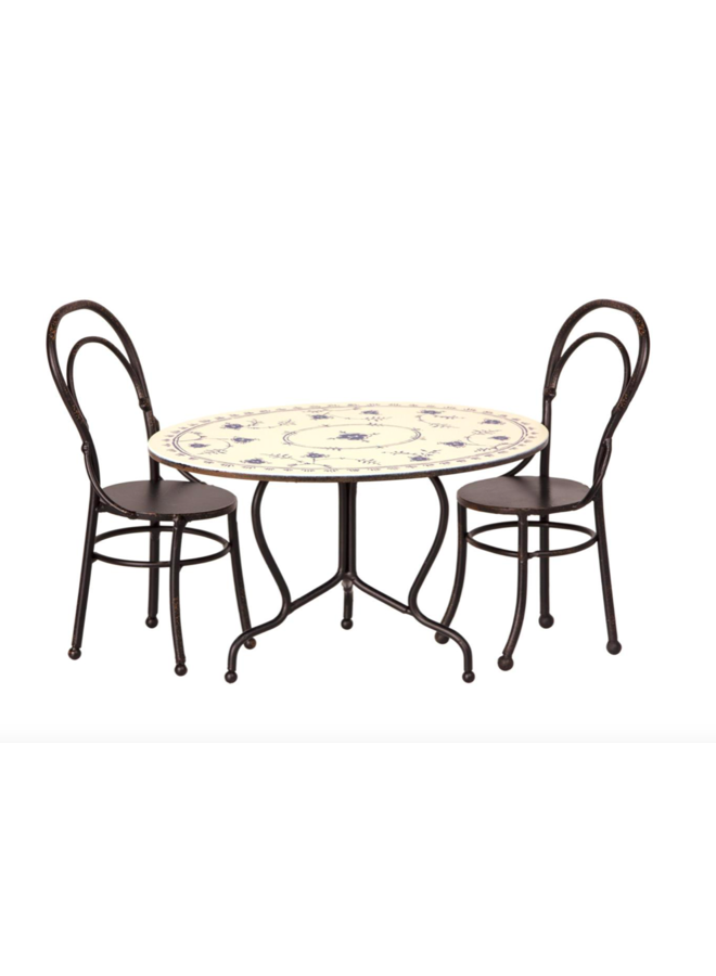 Maileg | dining table set with 2 chairs