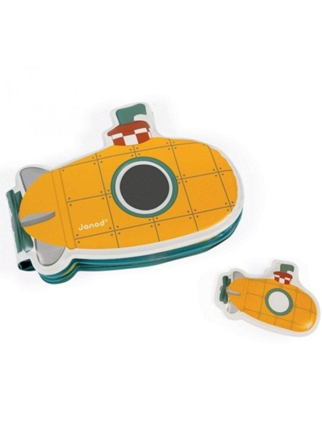 Janod | badspeelgoed | badboek mijn duikboot