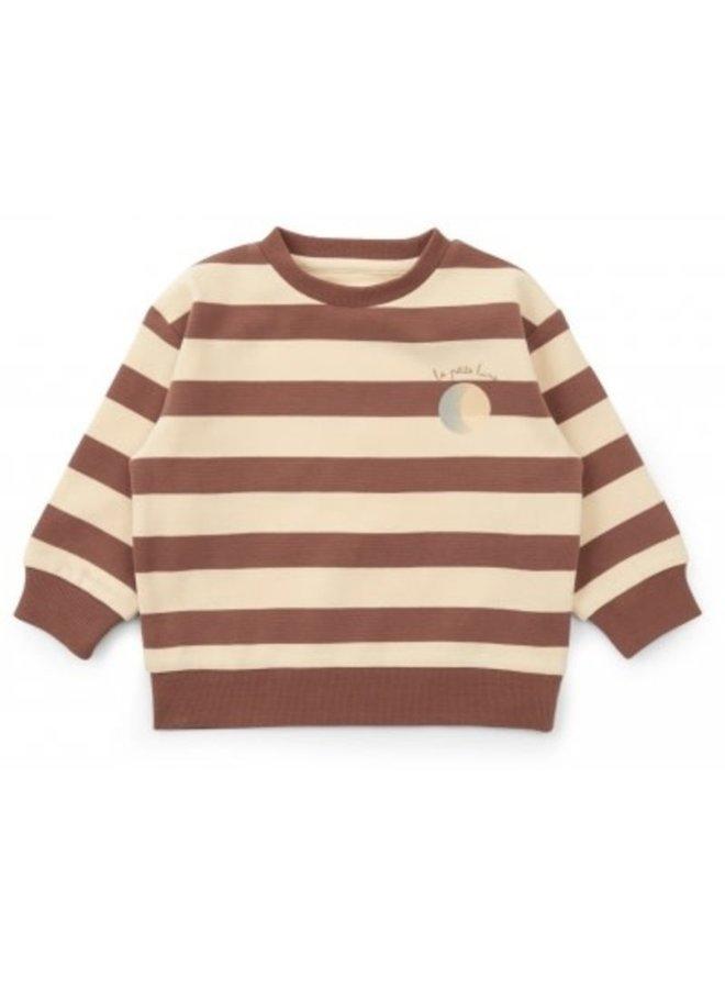 Konges Slojd | lou sweatshirt | striped fig brown