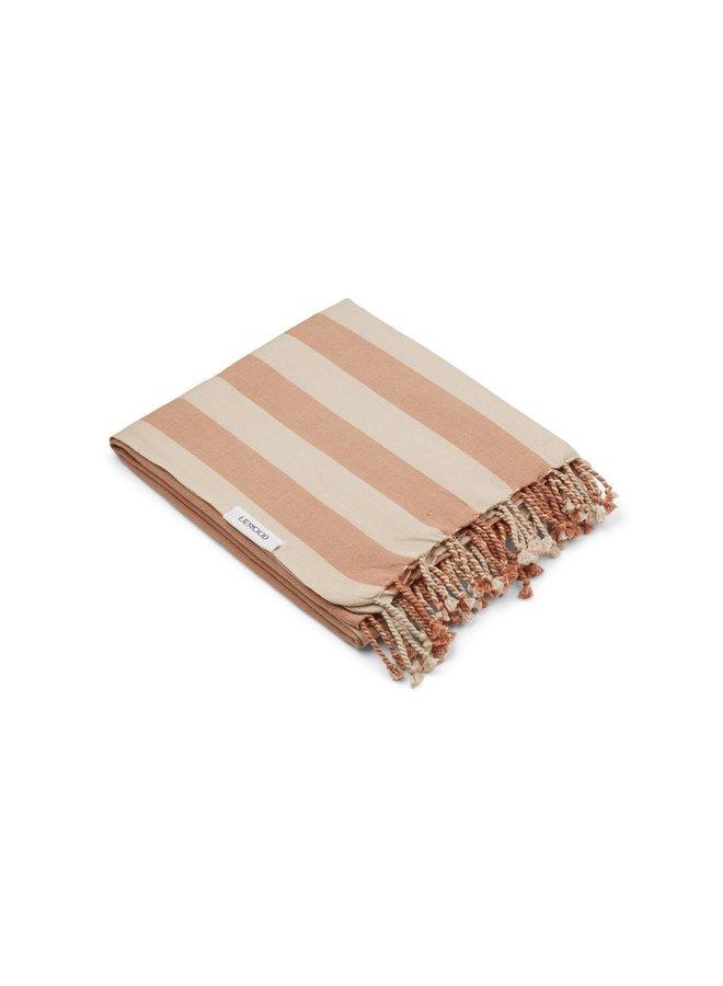 Liewood   mona beach towel   tuscany rose/sandy