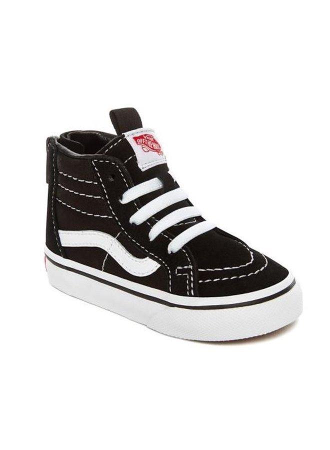 Vans | toddler | sk8 hi zip | black/white