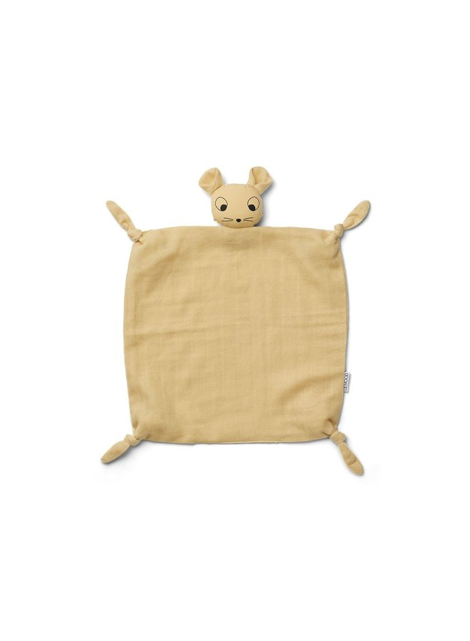 Liewood | agnete cuddle cloth | mouse wheat yellow