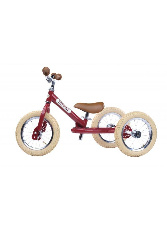 Trybike   steel driewieler   vintage rood