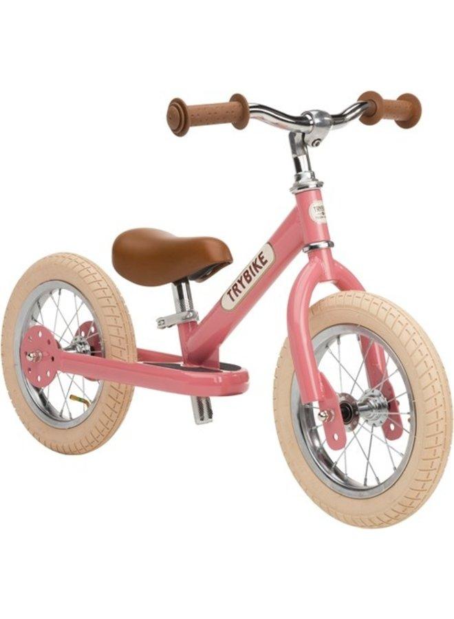 Trybike | steel loopfiets | vintage roze