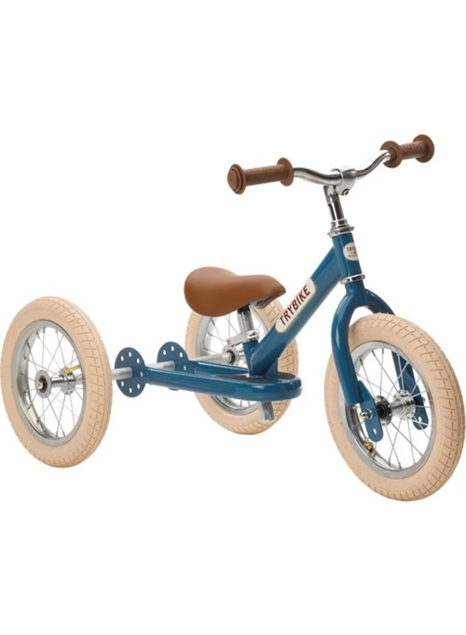 Trybike   steel driewieler   vintage blauw