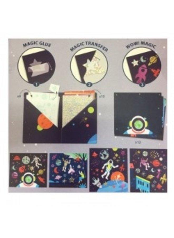 Djeco   artistieke folieplaatjes   kosmos