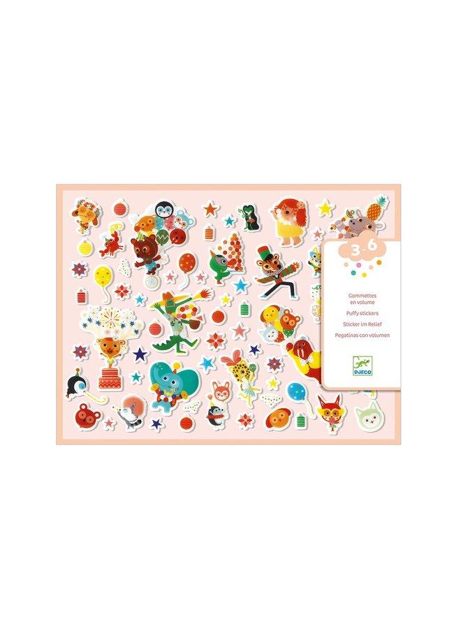 Djeco | dikke stickers | feestje