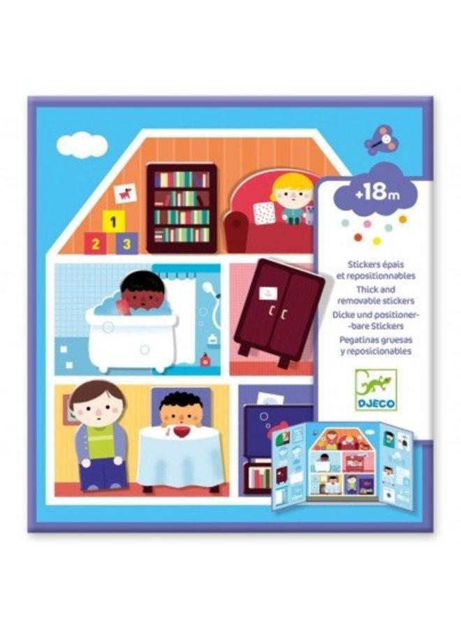 Djeco | herbruikbare stickers | huis