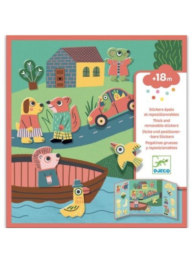 Djeco | herbruikbare stickers | dieren