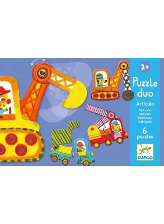 Djeco |  duo puzzel | voertuigen