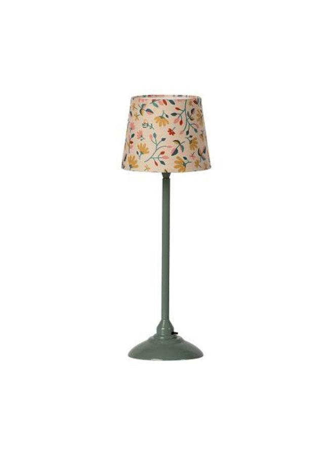 Maileg | miniature floor lamp | dark mint